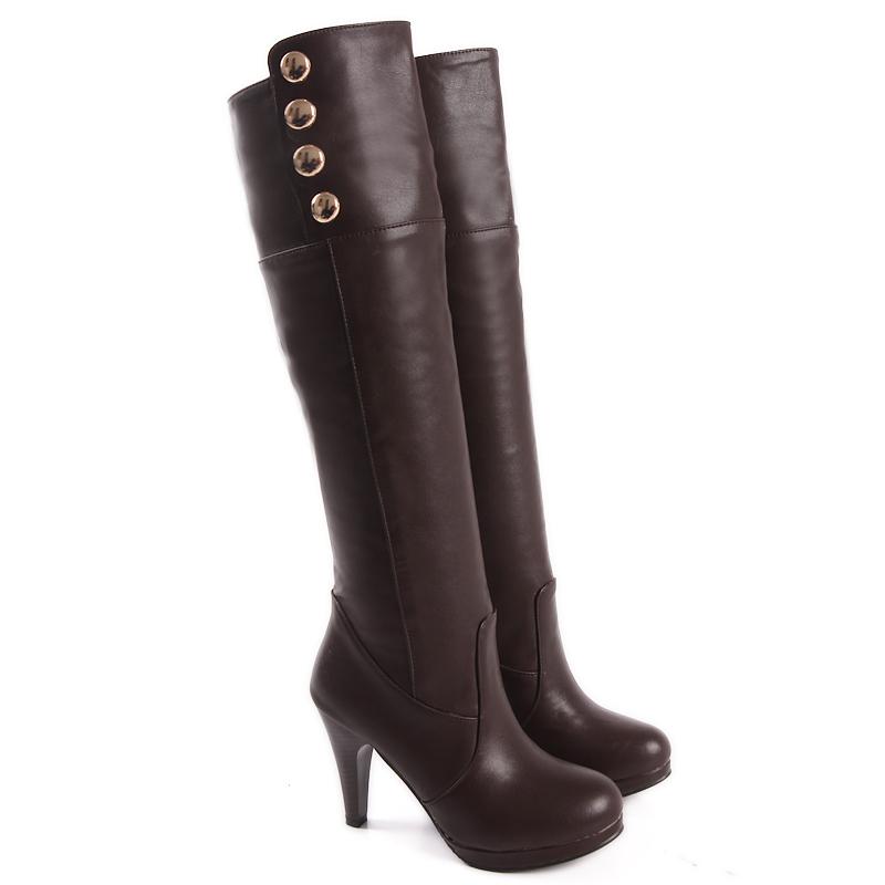 brand new sales black brown high heels thigh