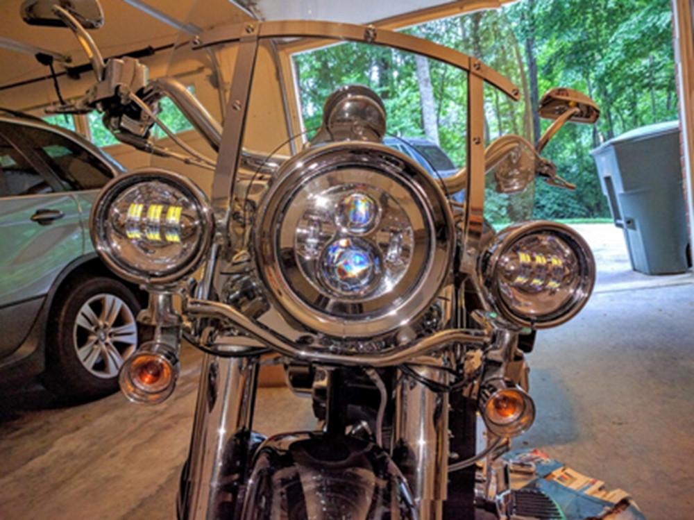 """Купить 7 """"Дюймовый Harley Daymaker СВЕТОДИОДНЫЕ Фары + 2x 4-1/2"""" Туман Свет Огней Ближнего Света для Harley Davidson мотоцикл"""