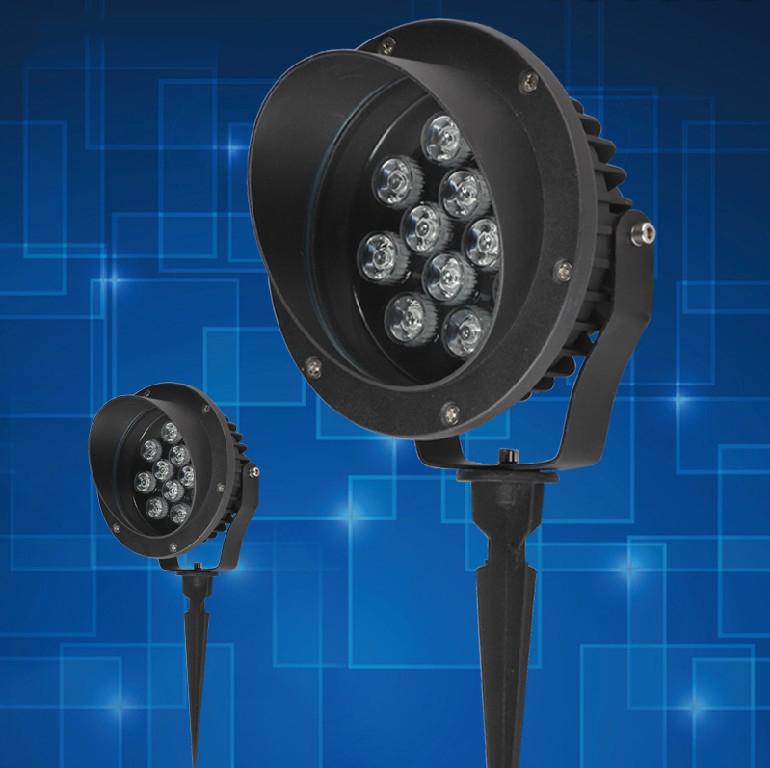 led waterproof outdoor lamp lawn plug inserted circular proj