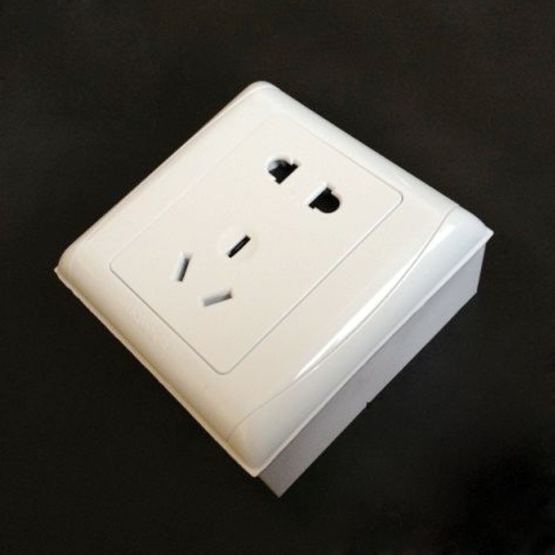 86 Type Outfit Junction Box Surface Mount Bottom Box, Push Button Switch Socket Junction Box Trough Box White PVC