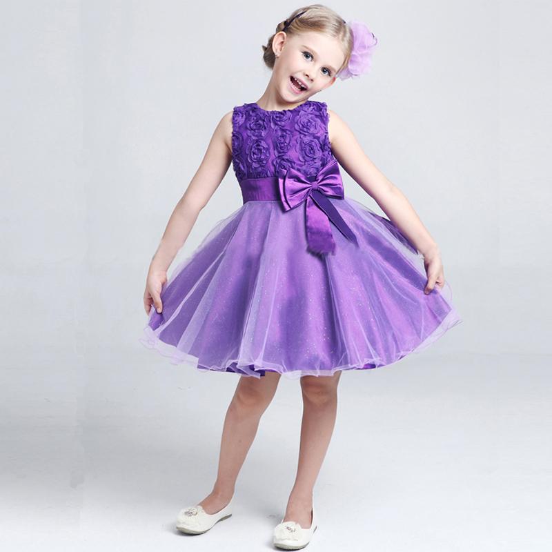 2015 New summer flower princess girl dress,lace rose Party Wedding Birthday girls dresses,Candy princess tutu elegant C5(China (Mainland))