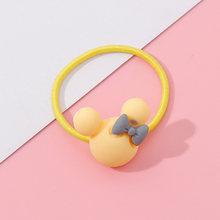 Wholesale 1PC Girls Cartoon Flower Lollipop Acrylic Elastic Hair Bands 3.0cm Small Rubber Bands Kids Scrunchie Hair Accessories(China)