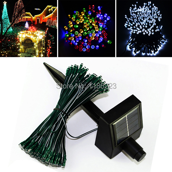 Decorative Garden String Lights : 100LEDs 12 m Waterproof Decorative Copper Globe Solar Powered Led String Lights Outdoor Garden ...