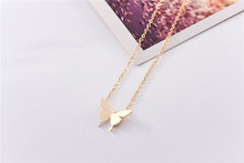 Luxury Statement Necklace Stainless Steel Gold Silver Chain Cute Butterfly Layered Necklace For Women Jewelry