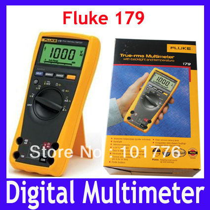 DHL/EMS Free shipping 100% Authentic New Fluke 179 True RMS Digital Multimeter Tester Meters with Backlight ,4pcs/lot