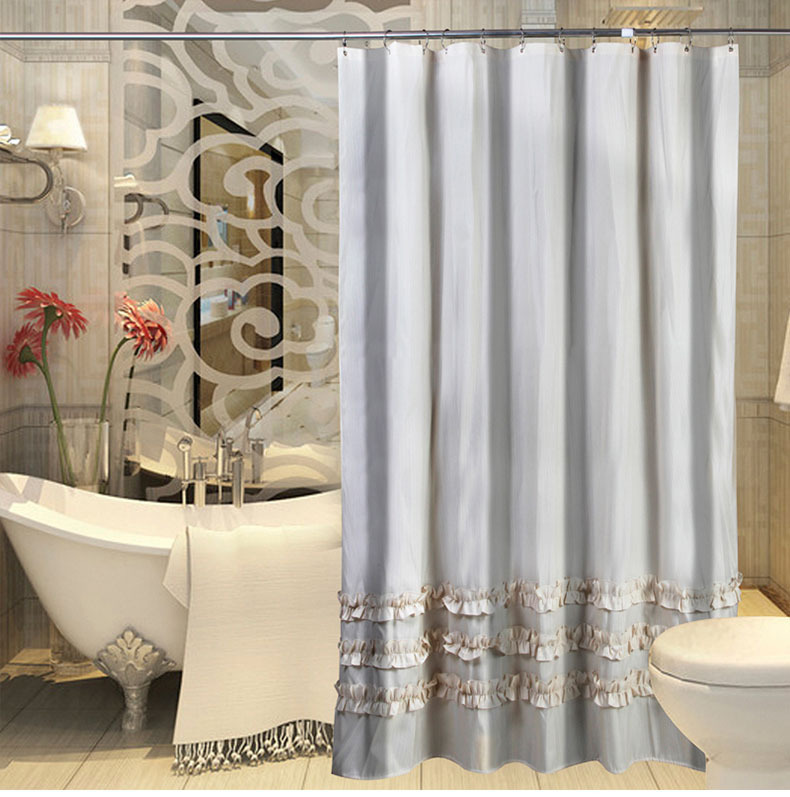 Bathroom handmade shower curtains elegant home decor in for Classy bathroom decor