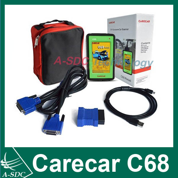 Free Shipping Original Diagnostic tool OBD 2 Carecar C68 Professional auto scanner More Better and cheaper Than Diagun(China (Mainland))