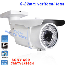 Buy New! 700TVL EFFIO-E SONY Exview CCD Varifocal lens Outdoor CCTV Camera 9-22mm lens IR Security Surveillance Cameras monitors for $75.05 in AliExpress store
