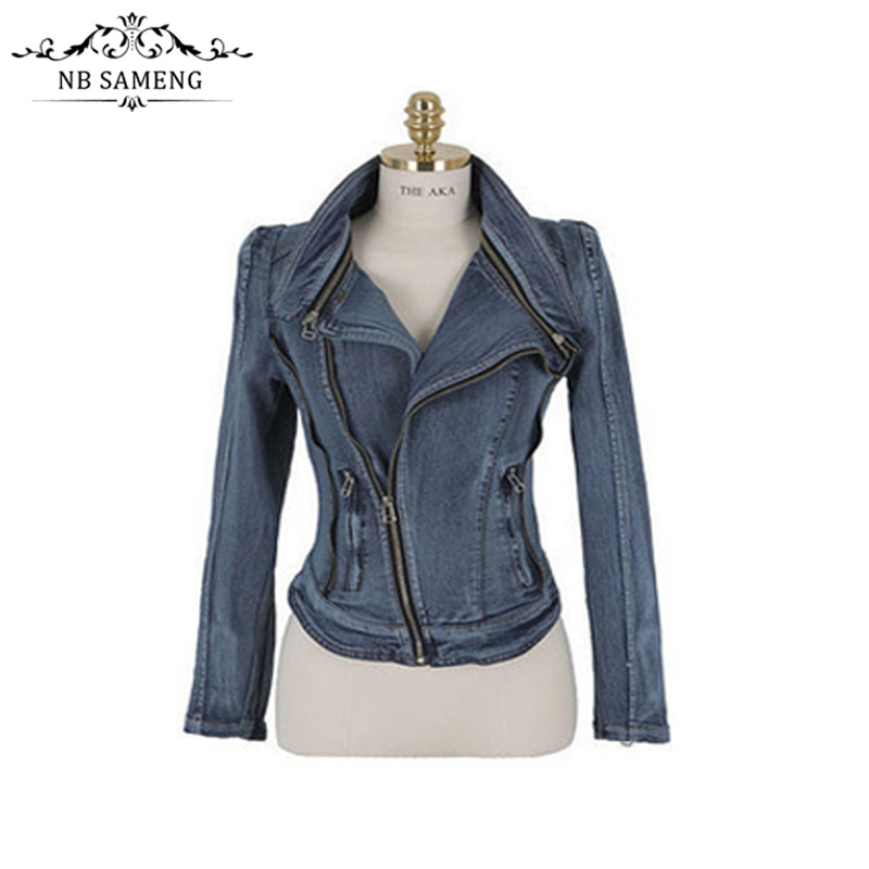 Compare Prices on Womens Cropped Denim Jacket- Online Shopping/Buy