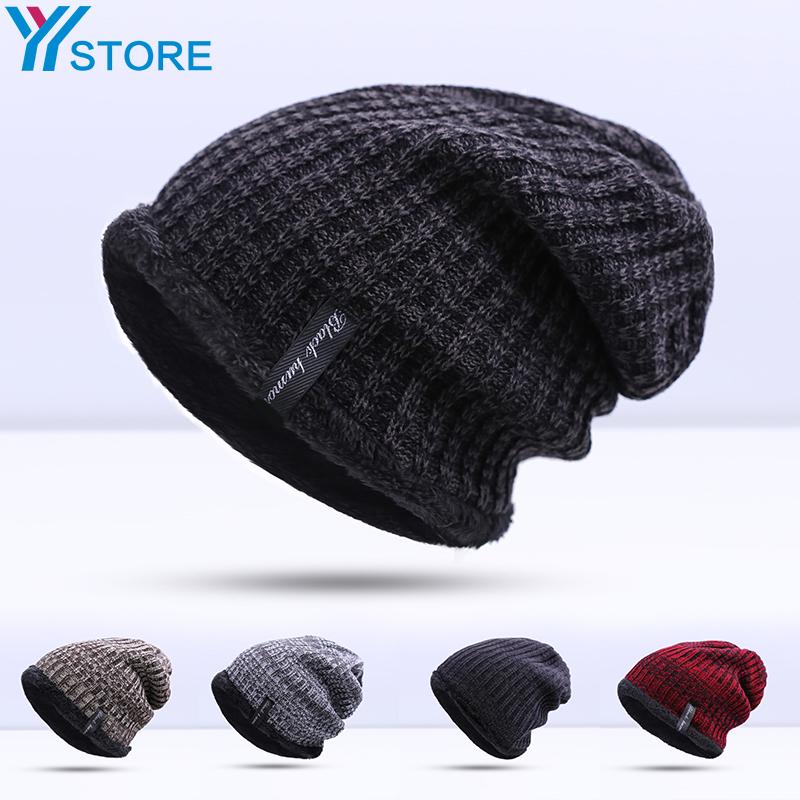 2016 New Fashion Warm Winter Hat For Man Skullies Beanies Knitted Hat Cap Men Beanie Cap Fashion Cap Drop Shipping(China (Mainland))