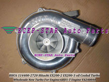 RHC6 114400-2720 VA240044 oil Cooled Turbo Turbine Turbocharger Fit For HITACHI EX200-2 EX200-3 6BD1-T Engine