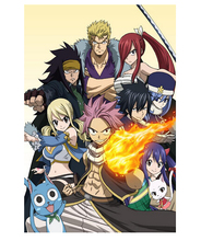 Custom Fairy Tail Japan Anime 27X40cm Canvas Painting Wall Silk Poster cloth print DIY Fabric Poster