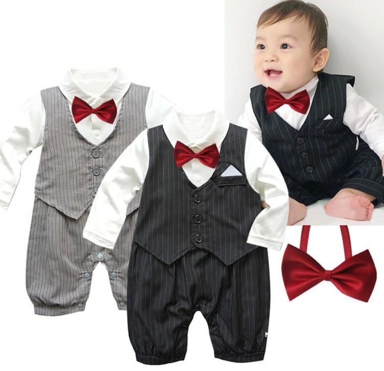 Baby Boy Wedding Christening Smart Summer Outfit Romper Tuxedo Sailor Dungarees