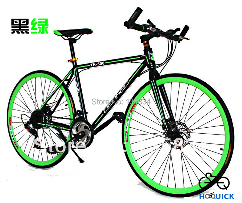 2014 Brand New Road Bicycle 700C Roadster Race Bike Double Disc Break 21 Speeds Bicicleta Fast Racing Road Bike Cycling Bicycle(China (Mainland))