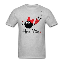 Buy New Cotton Custom Short Sleeve He's Mine Funny Heart Valentine's Day Gift Couple T-shirt Men Fashion Cosplay 3XL Men's Shirts for $12.10 in AliExpress store