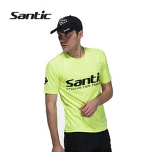 HOT Santic Mens Cycling Jersey Short Sleeve Breathable Quick Dry MTB Road Bike Bicycle Downhill Underwear Shirts Clothings 2016 - Sunshine Outdoor Sports CO., LTD store