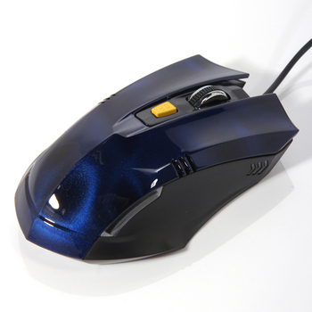Free Shipping Sale 6 Buttons Wired USB Professional Optical Computer Laptop Game Gaming Mouse Blue LED 600/1200/1800DPI Switch