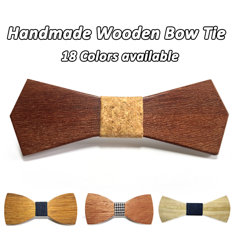 2016 Hot Fashion men wooden bow tie Accessory wedding Event hardwood Wood Bow Tie For Men Butterfly Neck Ties krawatte Gravata