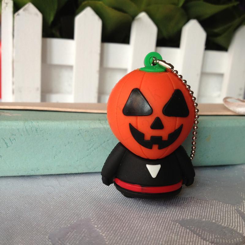 Creative Desinger Halloween Pumpkin Pendrive USB Flash Drive 4GB/8GB/16GB/32GB/64GB U Dsick Sale Online gift free shipping(China (Mainland))