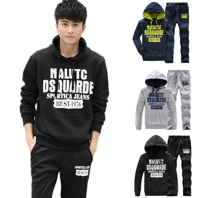 2016 mens hoodies and sweatshirts winter spring sport wear men tracksuit sets printed hoodies mens baseball sports suits W511(China (Mainland))