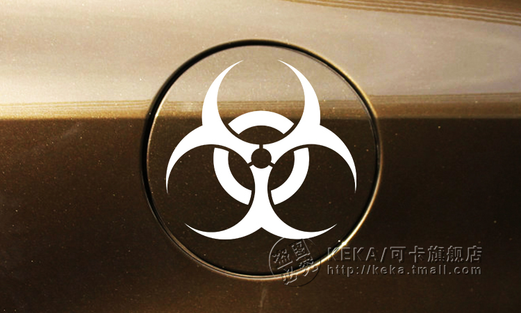 Resident Evil vinyl fuel tank cap car sticker custom modified car sticker cover retaining scratches