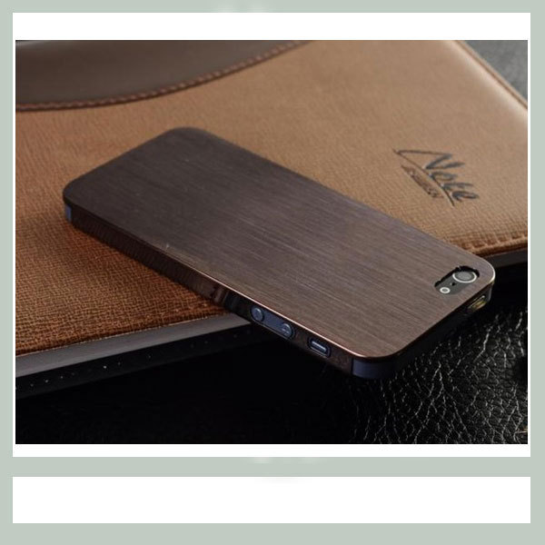 """0.3mm Ultrathin Brushed Aluminum metal hard case for iphone 5, Titanium steel mesh Metal back cover for iphone 5g 5s"""", free gift"""