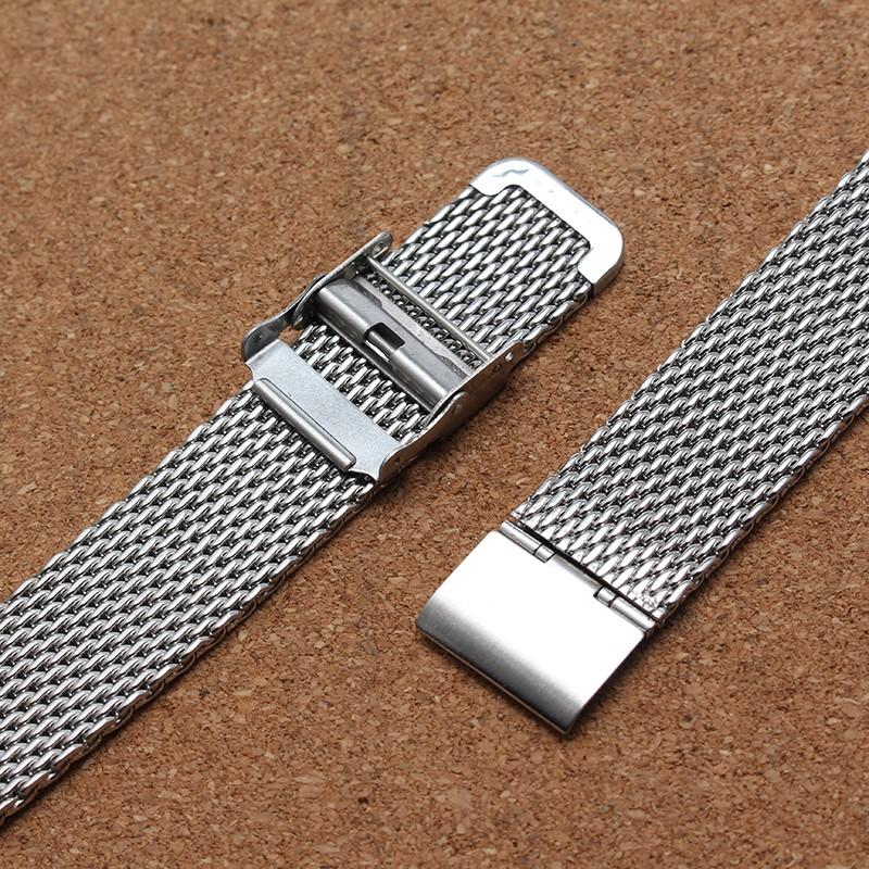 Ремешок для часов 20 мм 22 мм Металлическая Сетка Из Нержавеющей Стали Ремешок Раскладывающейся Застежкой Безопасности Высокое Качество Ремешок Для Часов Браслеты для мужчин час