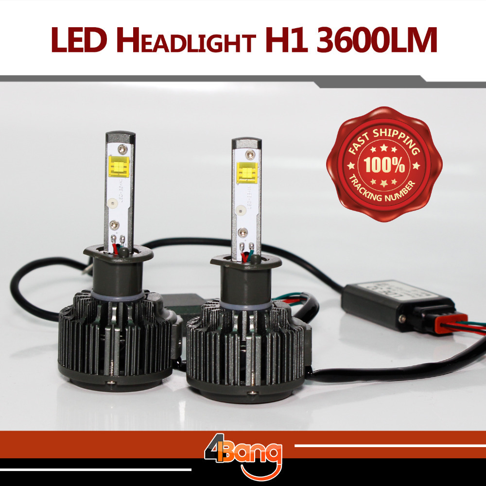 Newest! 2x 2015 Bright White 6000K Fast Cooling H1 7200LM/Set 60W/Set High Power CREE LED Fog Headlight Kit Plug & Play(China (Mainland))