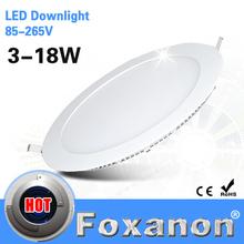 Foxanon Brand LED Panel 85-265V 220V 110V 127V 12W Light Led Ceiling Recessed  Downlight Ultra thin Lamp 2835 SMD Lighting 2PCS(China (Mainland))