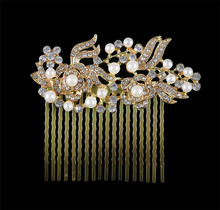 Buy MHS.SUN Free Women Pearl Flower Hair Comb Bridal Tiaras jewelry Vintage Wedding headwear Bride hair accessories HX030 for $8.74 in AliExpress store