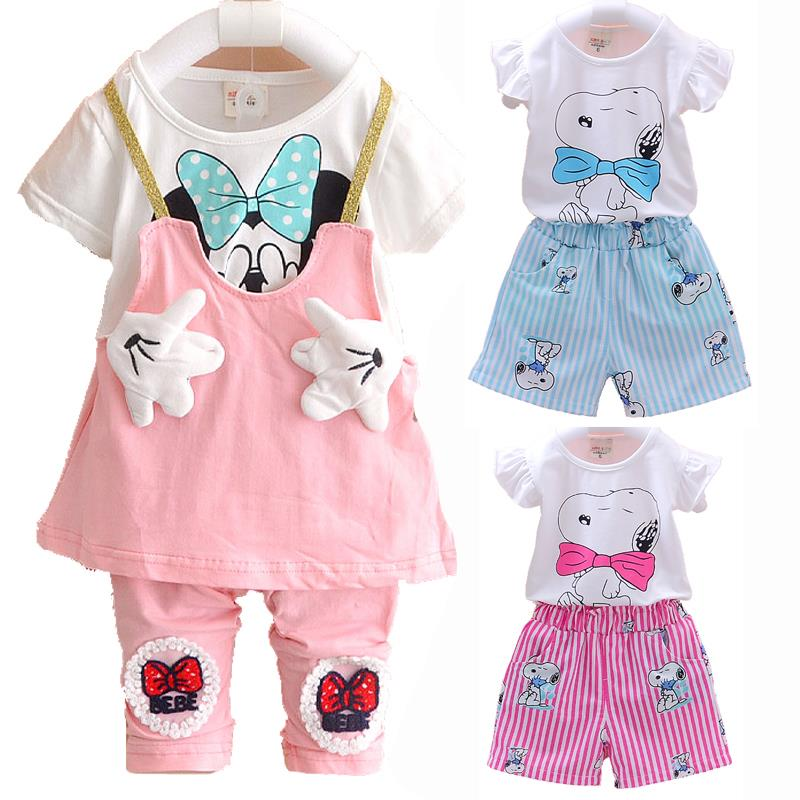 2016 New Baby Summer Sets Children's Toddler Girls Clothing Sets Dress Leggings Kids Clothes Set Dot Print Girl Summer Set(China (Mainland))