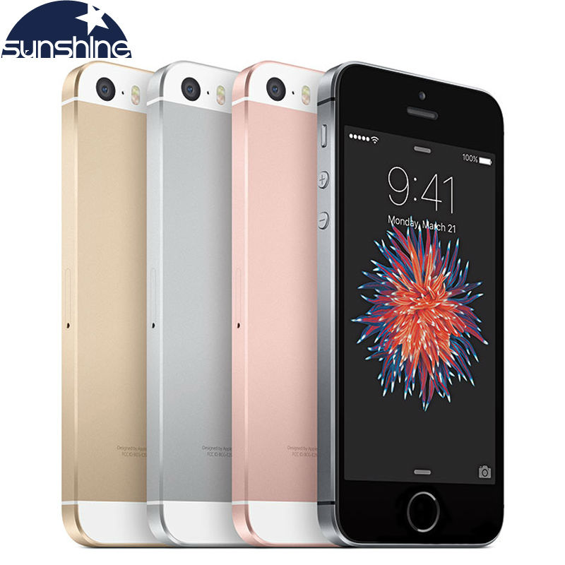 "Original Unlocked Apple iPhone SE Phone Dual Core 4.0"" 12MP iOS Smartphone 4K Video 4G LTE Touch ID Sealed phone(China (Mainland))"