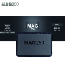 2pcs Mag 250 linux system IPTV Set Top Box HD1080 Satellite Receiver support lan wifi youtube Mag250 support wifi adapter mag254