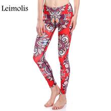 Buy Leimolis 3D print red Gipsy flower winter warm Harajuku adventure time workout push plus size fitness leggings women pants for $11.90 in AliExpress store