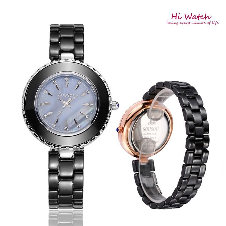 Perfect Brand Women Dress Watches Steel Quartz Watch Diamonds Gold Watches