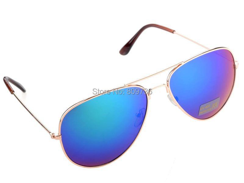 2015 New Fashion Hot 80s Vintage Womens Mens Aviator Mirror Lens Unisex Sunglasses Women Girls Beach Glasses Free(China (Mainland))