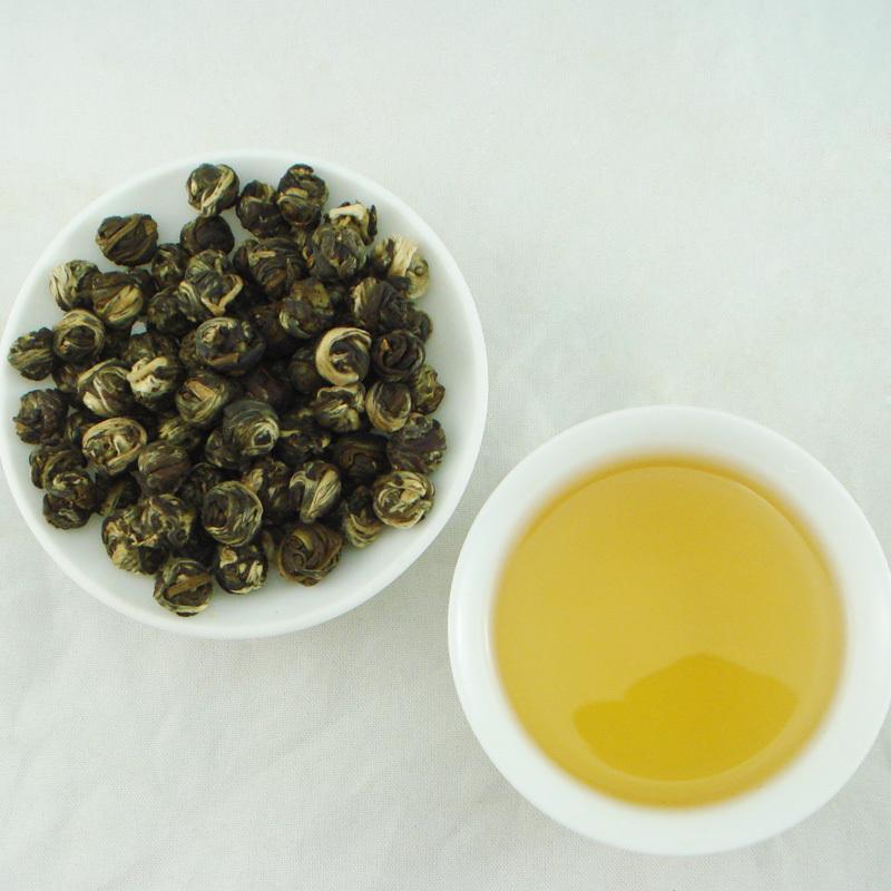 jasmine dragon pearls green tea 250g,jasmine fragrance green tea,free shipping jasmine flower tea<br><br>Aliexpress