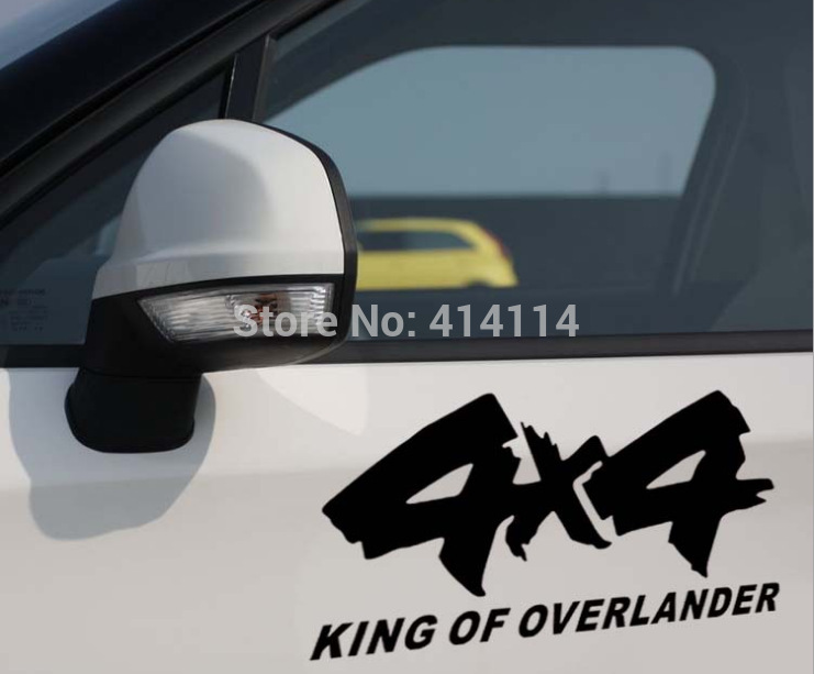 2pcs lot 4x4 King of Overlander Car Sticker Car Reflective Decal for 4x4 AWD Toyota Chevrolet