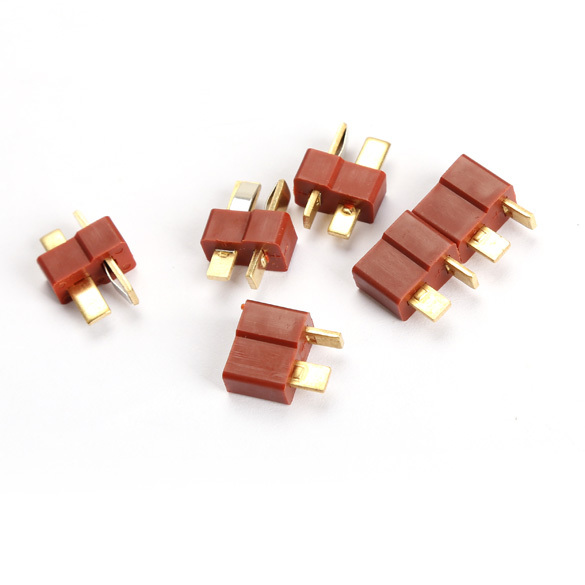 Free shipping Top Quality RC Lipo Battery Helicopter 10 Pair T Plug Connectors Male Female for Deans FCI#(China (Mainland))