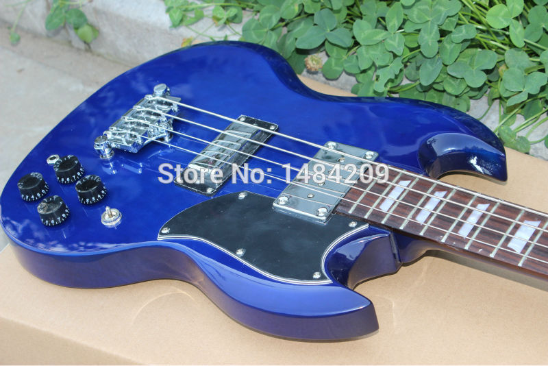 Vicers New Arrival Nostalgia series Blue BASS Guitar Best OEM Musical instruments free shipping(China (Mainland))