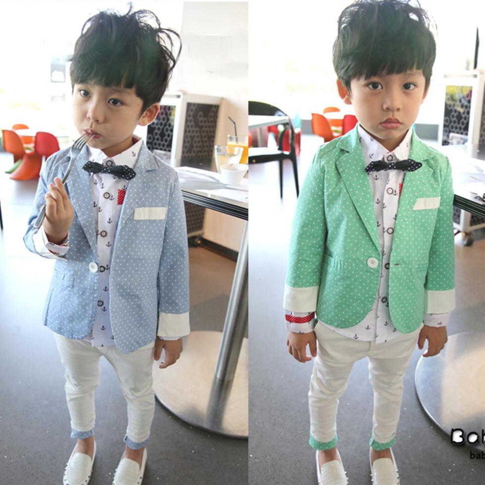 2015 Baby Boy Clothing Sets Fashion 2-7T Boys Blazer+Pants Suit Set Leisure Formal Kids Clothes Children Clothing Set WeddingC30(China (Mainland))