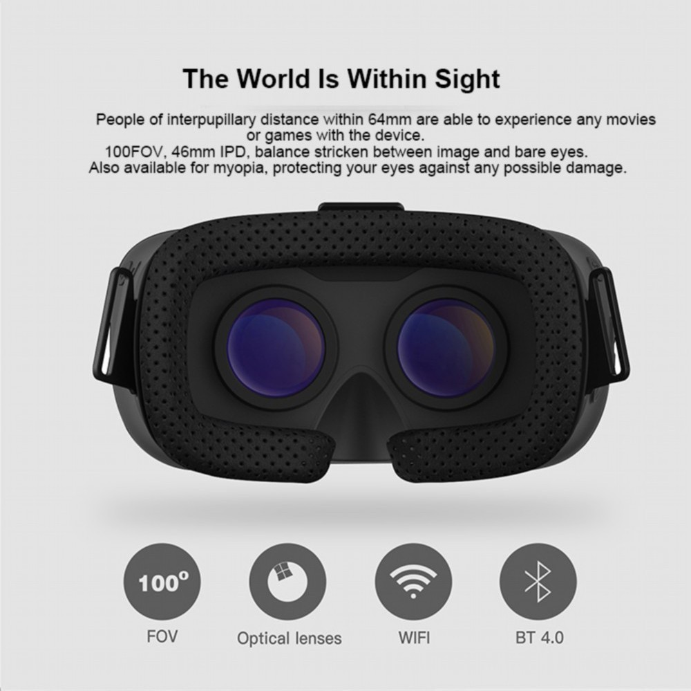 SKY 3D VR Headset Allwinner VR 5.5 Inches 1080P FHD Display VR Immersive 3D Glasses Virtual Reality Headset + Bluetooth