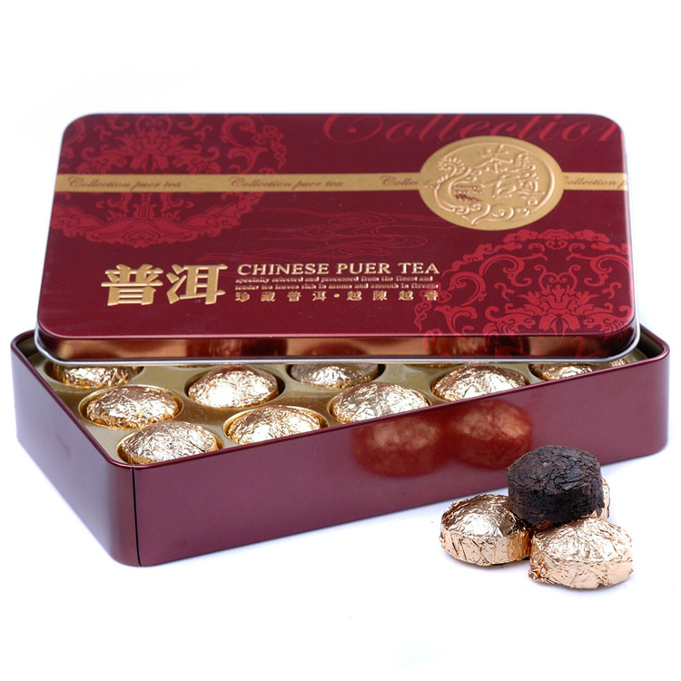 Pu er tea premium xiaojin mini tuo flavor cooked tea iron boxed tea<br><br>Aliexpress