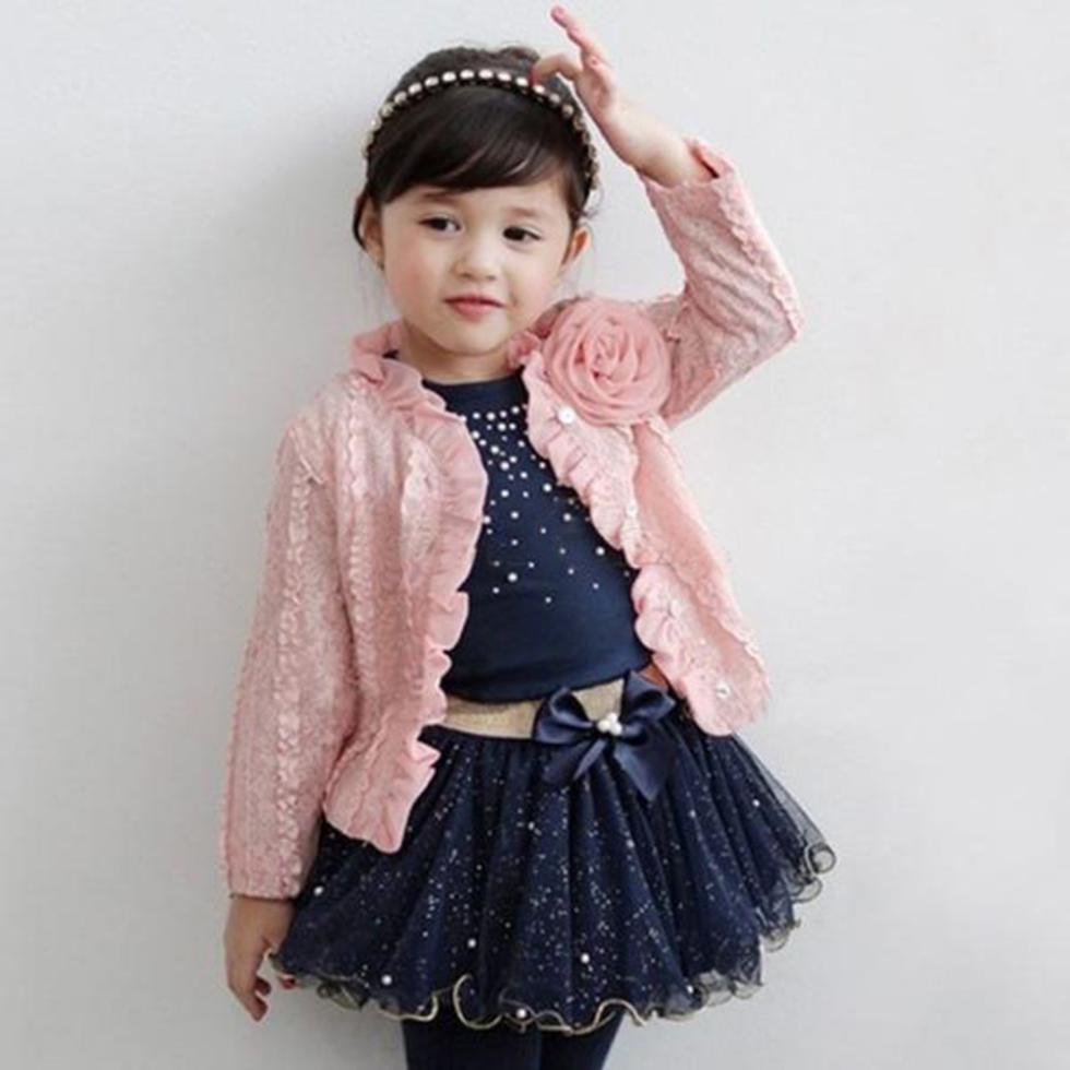 3pcs/set Fashion Flower Newborn Girsl Clothes Bodysuit Pants Cardigan Wear Suit Infant Costume Kit Girl Children Clothing(China (Mainland))