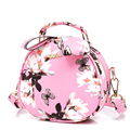 Fresh Style Print Small Round Bag Women Korean Style Cute Hand Bag Ladies Fashion Hand held