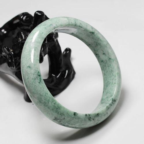 free shipping 01988 Certified Grade A Natural Green Jadeite Jade Gems Bracelet Bangle<br><br>Aliexpress