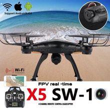 Original X5SW-1 Wifi FPV 2.4Ghz 4CH RC Camera Drone with 0.3MP Quadcopter RTF Black White Color UK In Stock