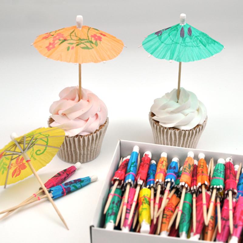 40pcs! Wedding decorations for fruit / cocktail mini umbrellas peacock drink picks party picks art toothpick paper garland(China (Mainland))