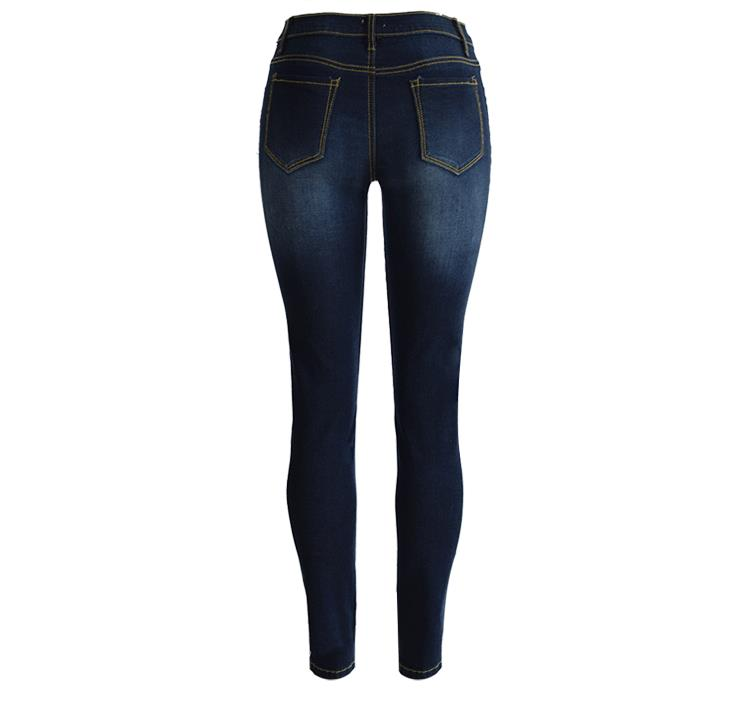 High Waist Stretch Jeans Women 2017 Autumn Slim Skinny Denim Trouser Fashion Ladies Pencil Pants Pantalon