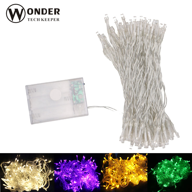 4M 10M LED String Lights Battery Operated led colorful String strip lights Christmas decoration lamp Holiday Party led strip(China (Mainland))